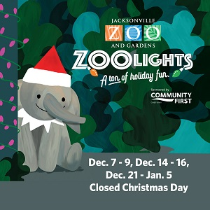ZooLights advertisment for event